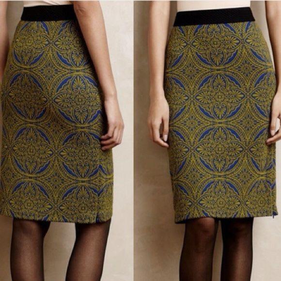Anthropologie * HD in Paris Dresses & Skirts - ANTHROPOLOGIE Medallion Pencil Skirt XS/S $98 NWOT